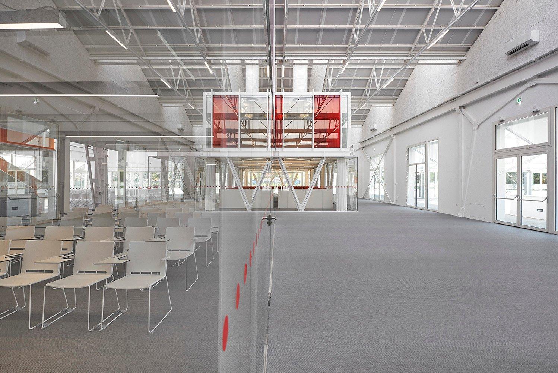The glass volume where the Fondazione's offices are located
