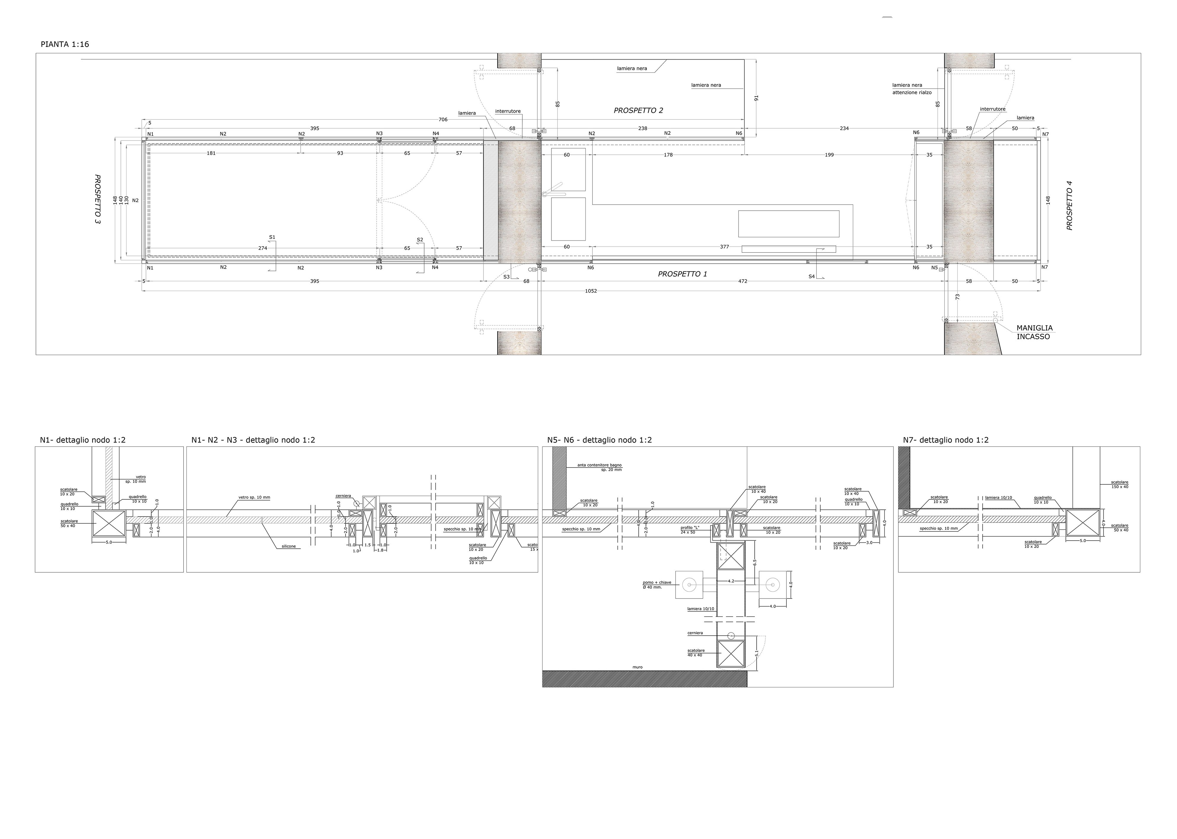 Plan Details of Glazed Volume }