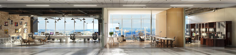 Office Workspace Metal Yapi Konıut