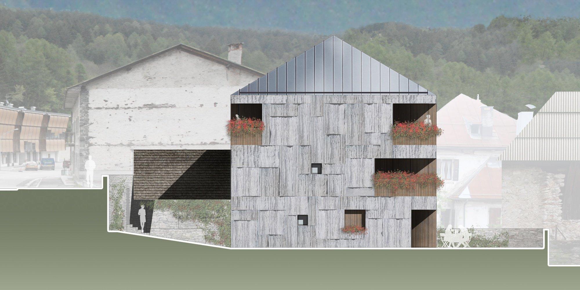 Dettagli dell'edificio residenziale / Residential building detail