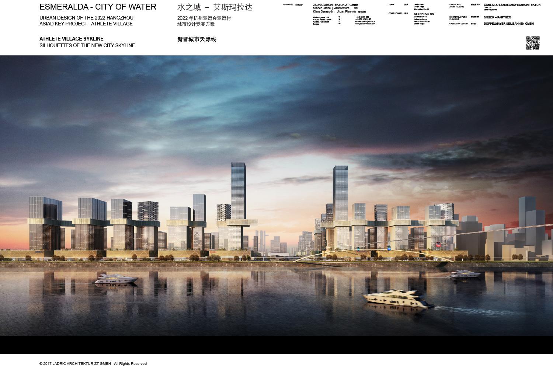 ASIAD 2022 - Village Riverfront_Skyline 1   © 2017 JADRIC ARCHITEKTUR ZT GMBH - All Rights Reserved