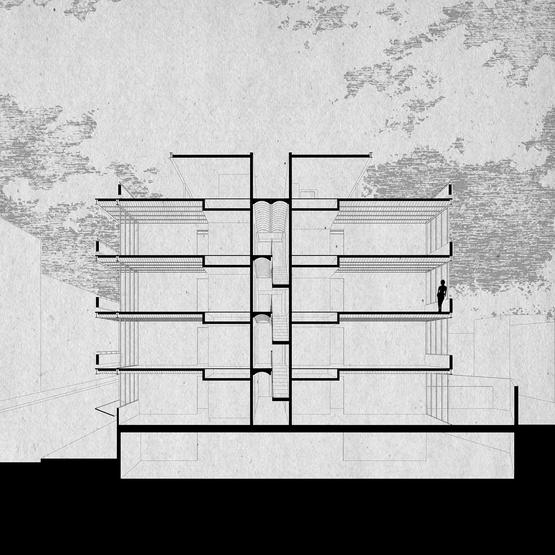 Croos Section Dellekamp Arquitectos}