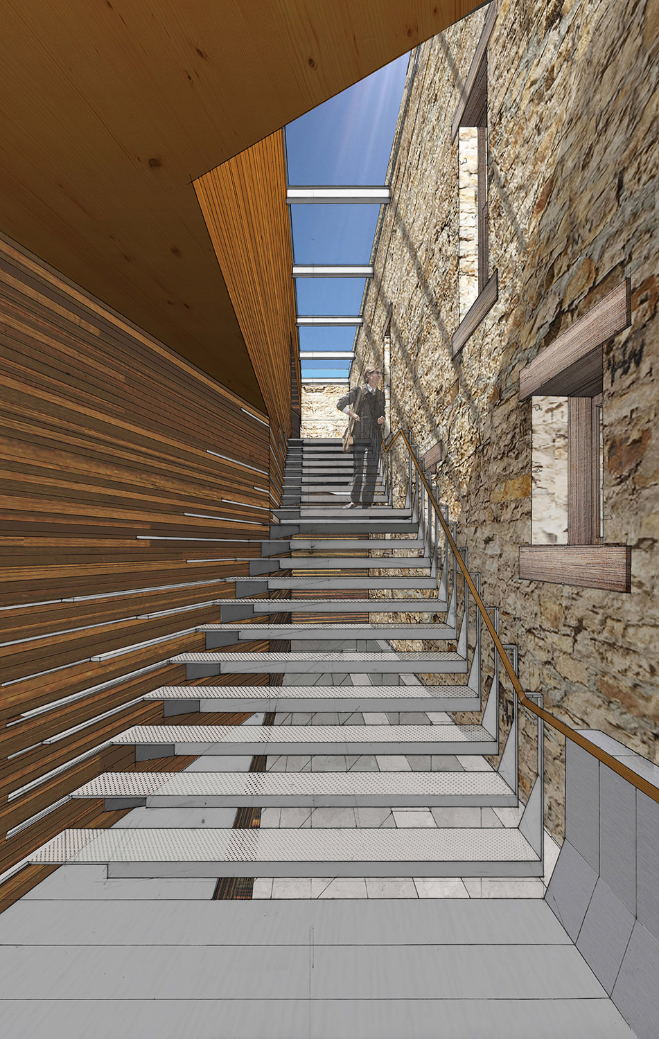 Stair Perspective LTL Architects