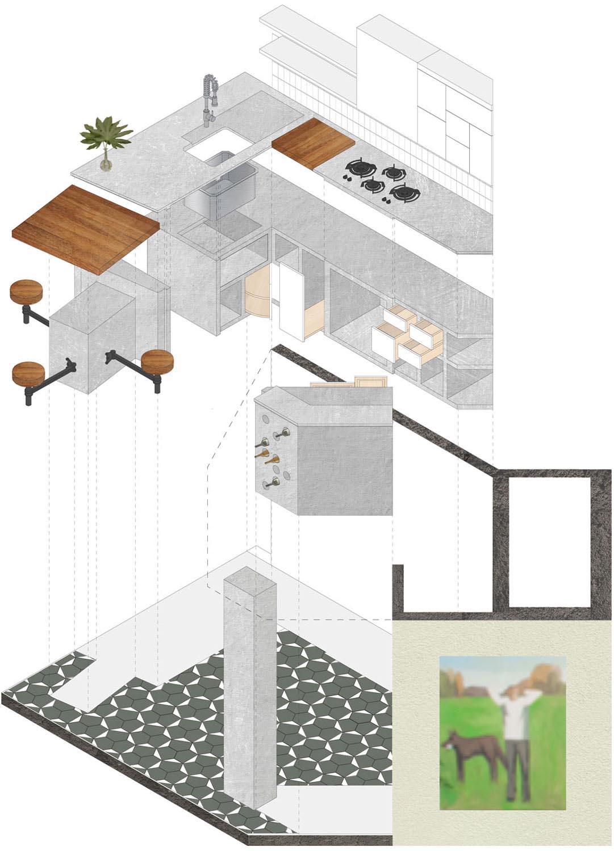 Exploded diagram Jose Nuñez/ Jacqueline Pileggi