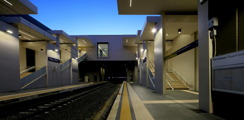 Interno Banchina Stazione Vigna Clara, Roma
