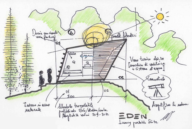 Sketch 01 ARCStudio PERLINI}