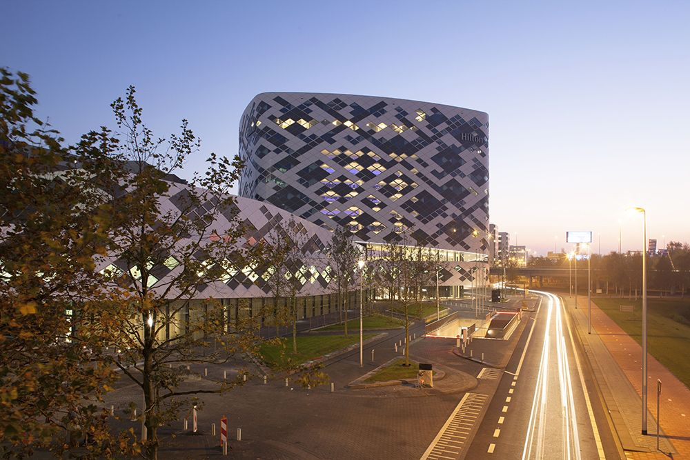 The new Hilton Amsterdam Airport Schiphol hotel is an impressive landmark