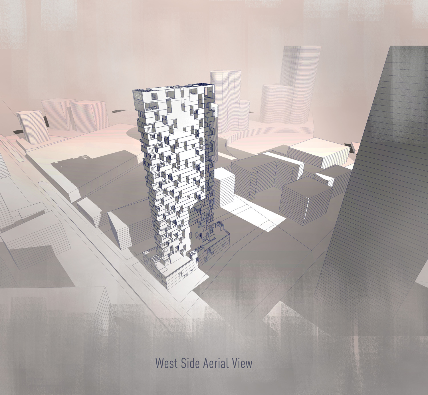 west side aerial view SANJAY PURI ARCHITECTS