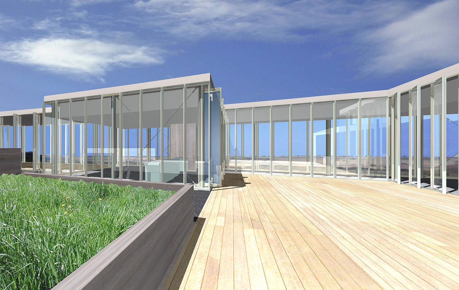 Exterior Deck View Rendering: Lawrence Kim