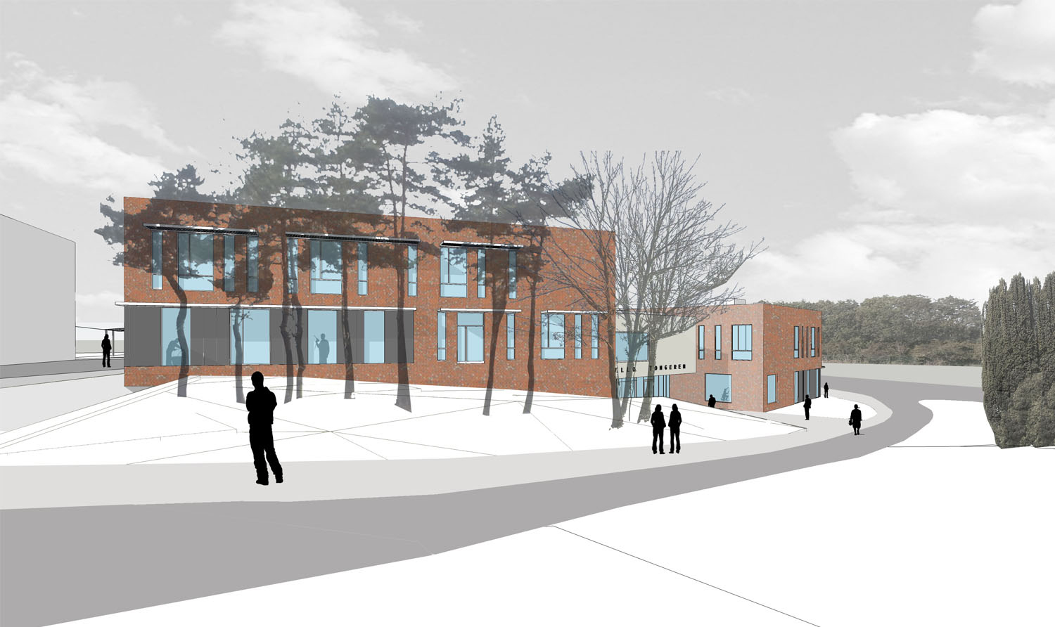 View of Sports and Technology block (2)  Coady Architects / ELD Partnership}