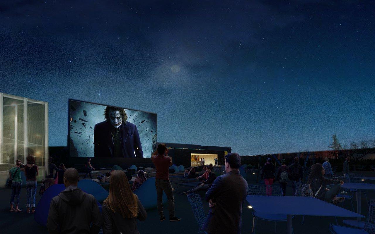 Cinema & Activity roof top garden car park