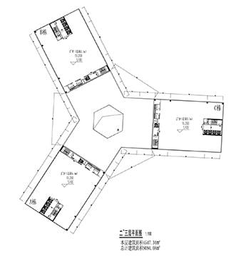 Xiantao Big Data Valley - Office Towers Plan }