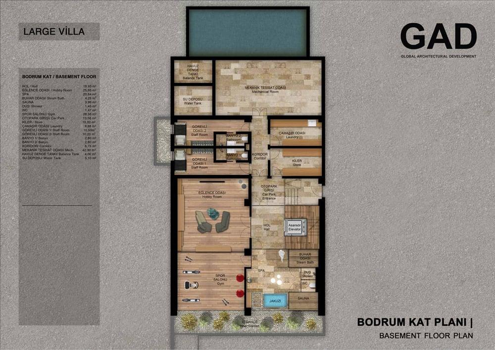 Basement Floor Plan }
