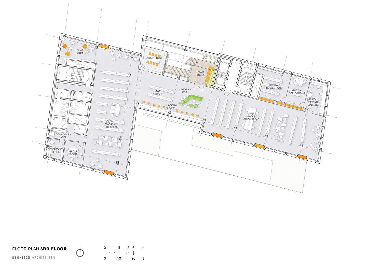 Floor plan 3rd floor Behnisch Architekten}