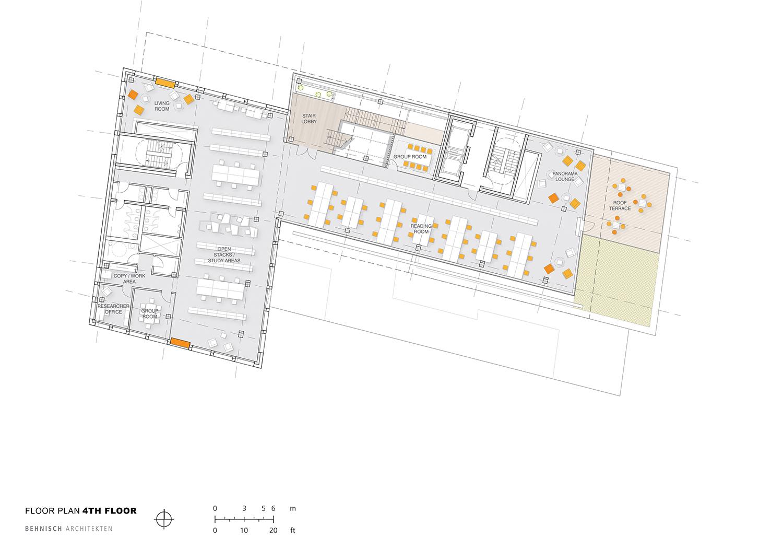Floor plan 4th floor Behnisch Architekten}