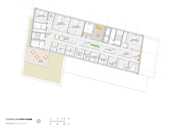 Floor plan 5th floor Behnisch Architekten}