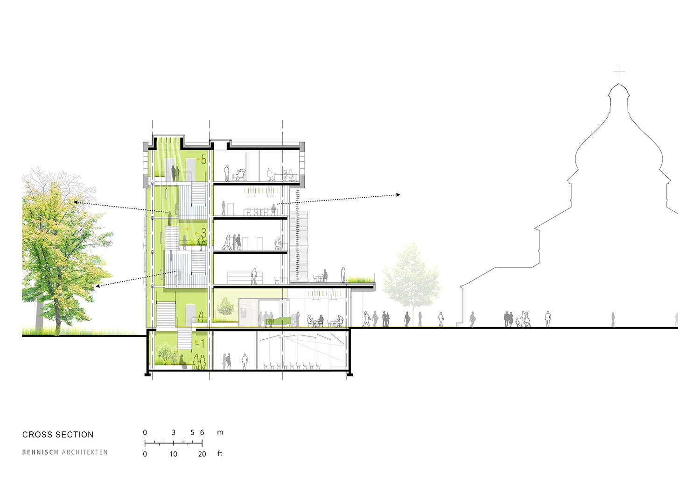 Cross section Behnisch Architekten}