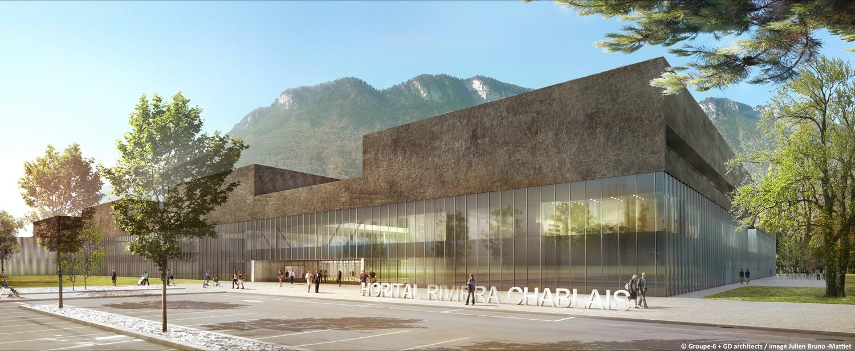 Main facade on the entrance }