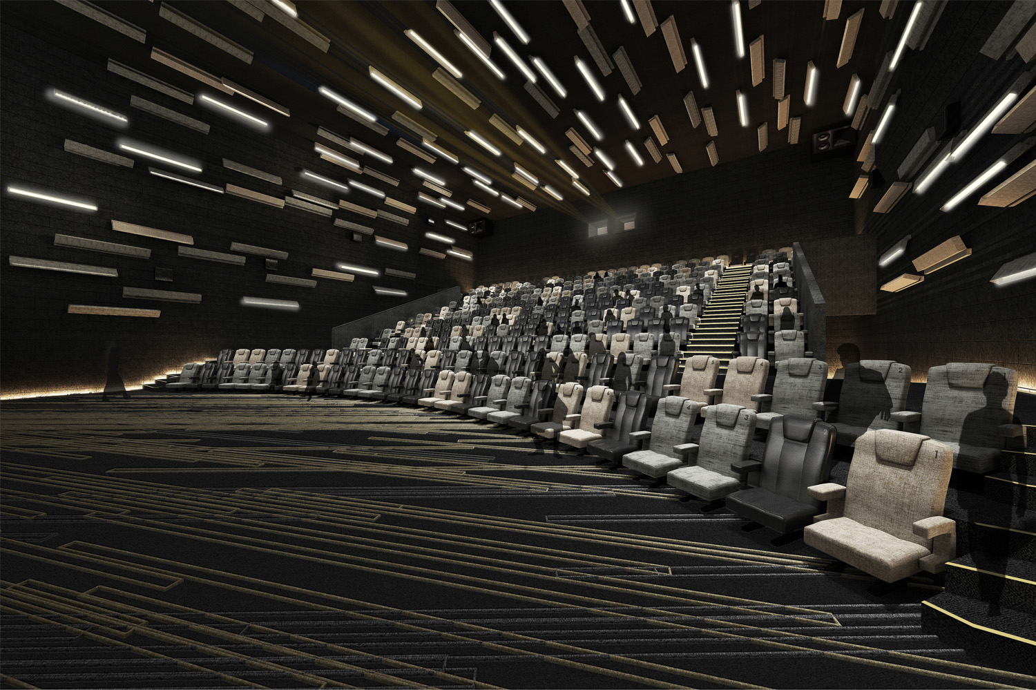 Rendering of the auditorium.