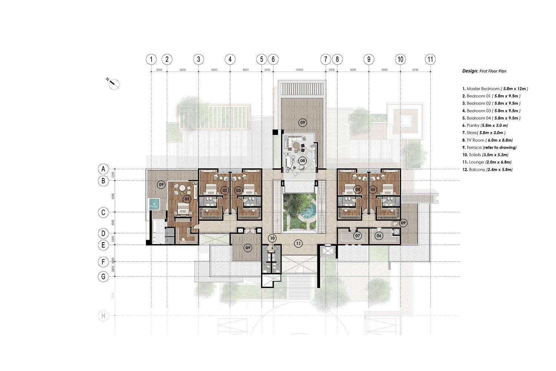 first floor plan  JT+ Partners}
