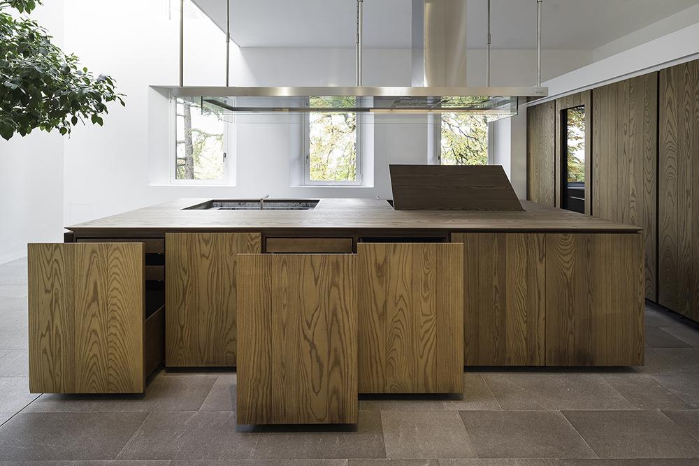 Brunch/Cucina  - prospetto frontale aperto blocco cucina Filippo Poli