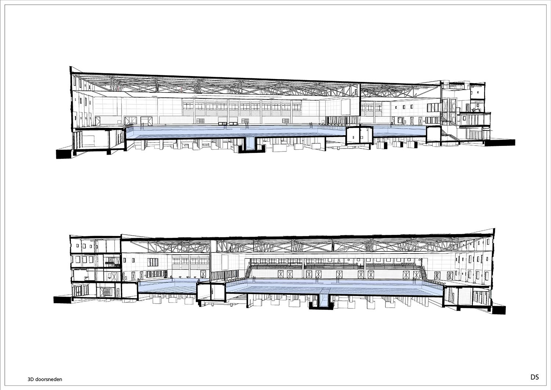 3D BIM section © Kraaijvanger Architects}