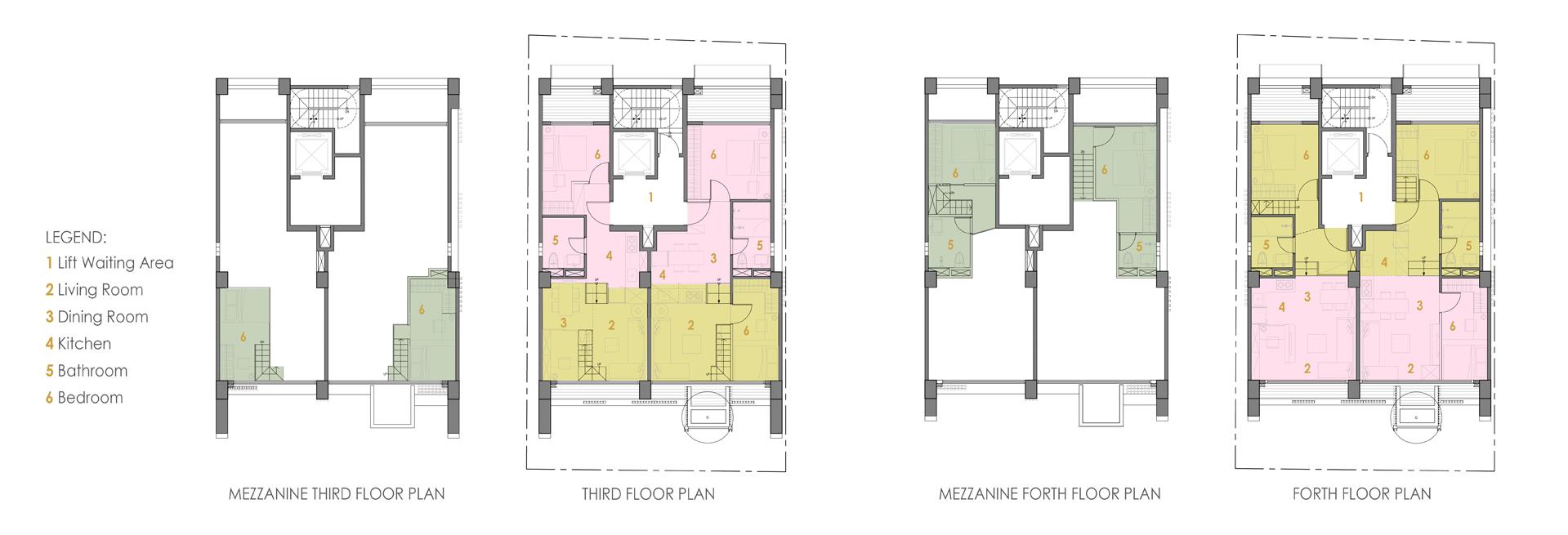 Unit Floor Plans }