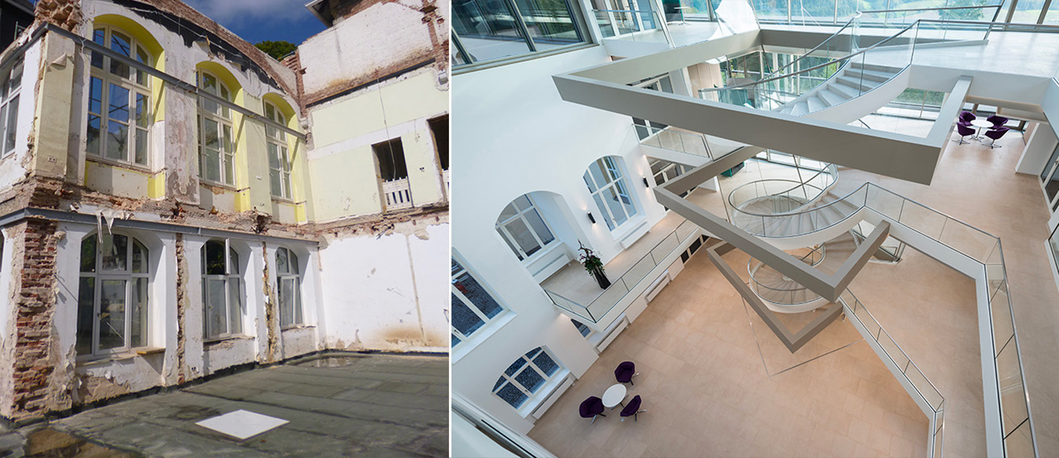 Helix Staircase - Before and After Il Prisma