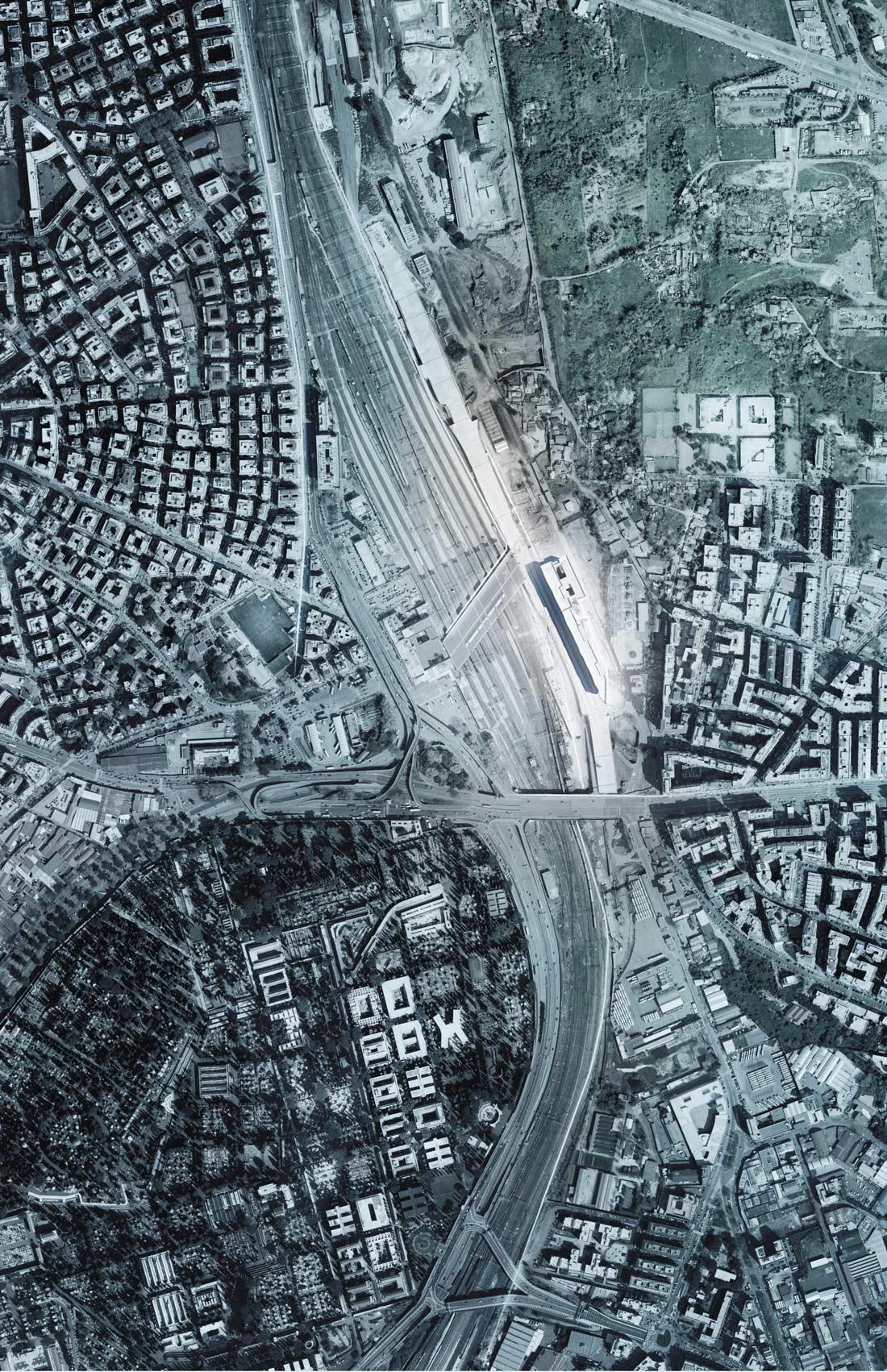 Tiburtina area plan view }