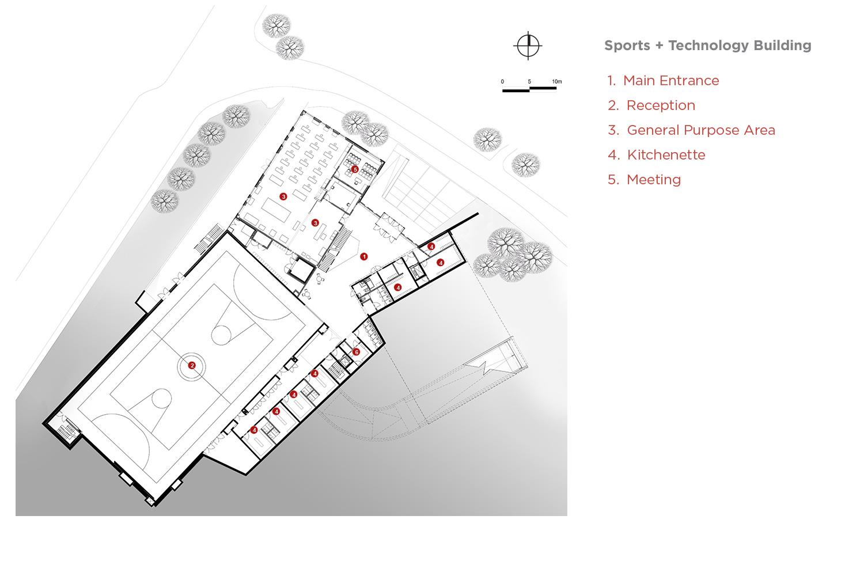 Sports and Technology block Plan 00 Coady Architects / ELD Partnership}