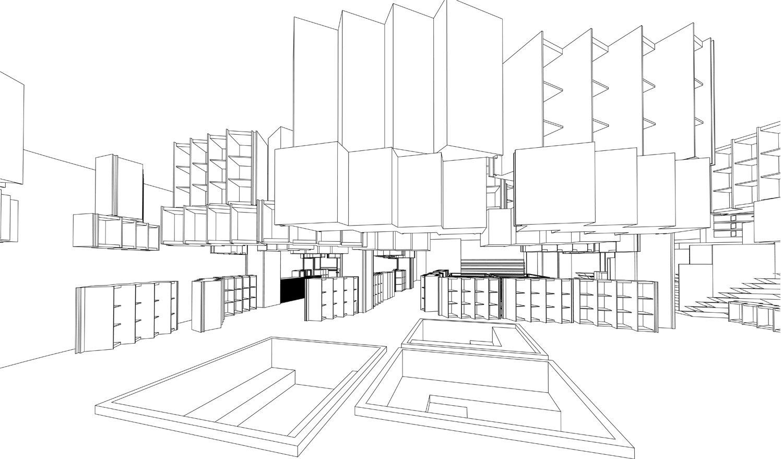 Perspective of Mezzi Master Cultural Centre