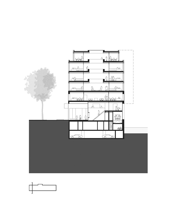 Cross section KAAN Architecten}