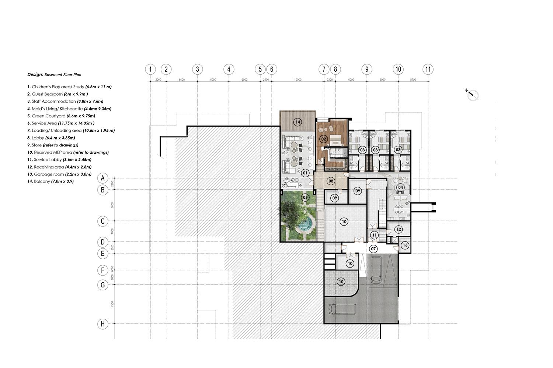 Basement floor plan  JT+Partners}
