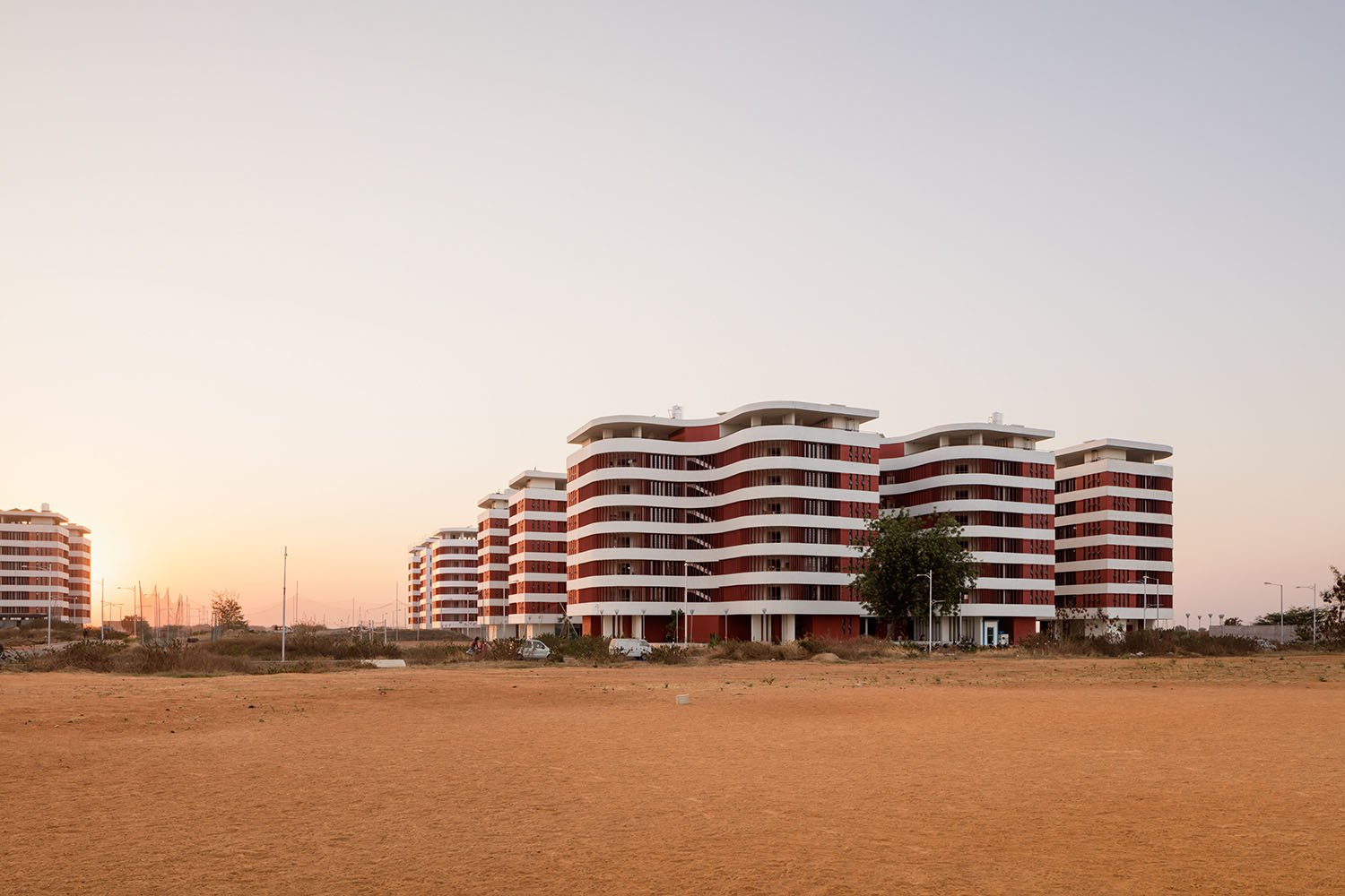 First 10 finalized modules, view from the future central sporting fields  Marcus Bredt
