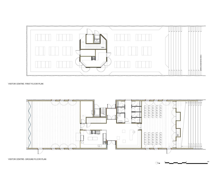 Visitor Centre Floor Plans }