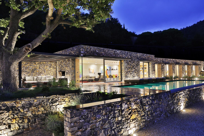 Villa Nemes at night