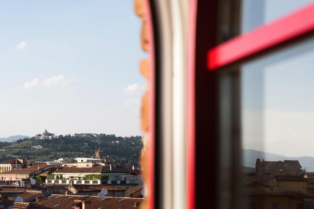 La vista panoramica dalla torretta