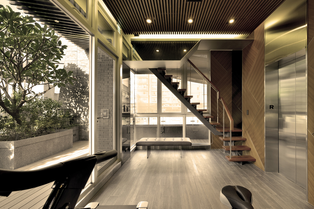 Interior View of Elevator Waiting Space
