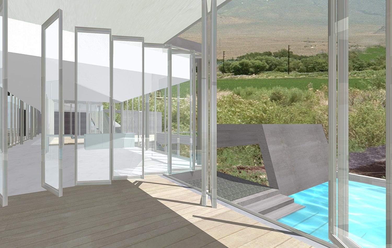 View from Livingroom Rendering: Lawrence Kim}