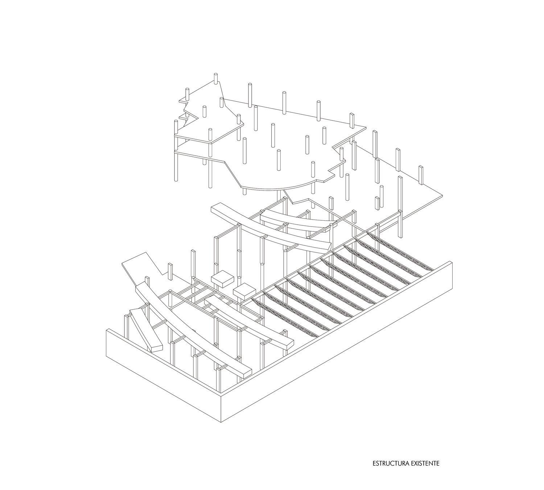 Existing structure Guillermo Vazquez Consuegra. Arquitecto}