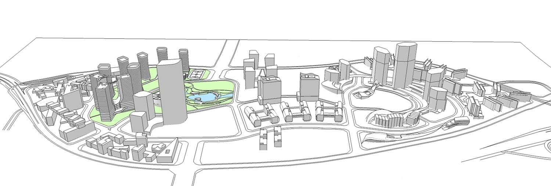 Xiantao Big Data Valley - Urban plan space layout }