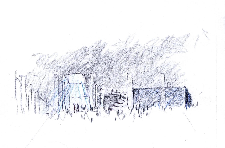 Sketch Guillermo Vazquez Consuegra. Arquitecto}