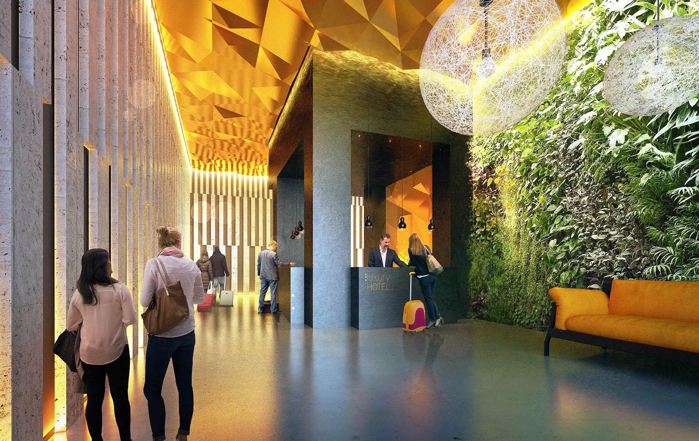 12 - vista interna - ingresso/reception studio B+M Associati