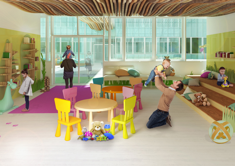 Rendering - Waiting Room Binini Partners}