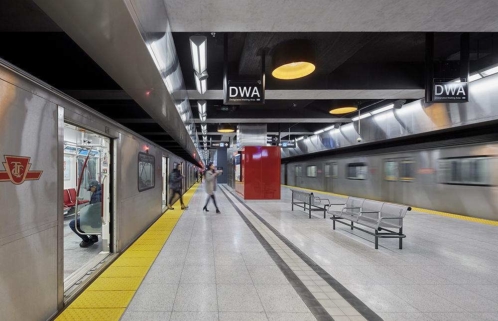 Interior View of Subway Platform on lowest third level Shai Gil