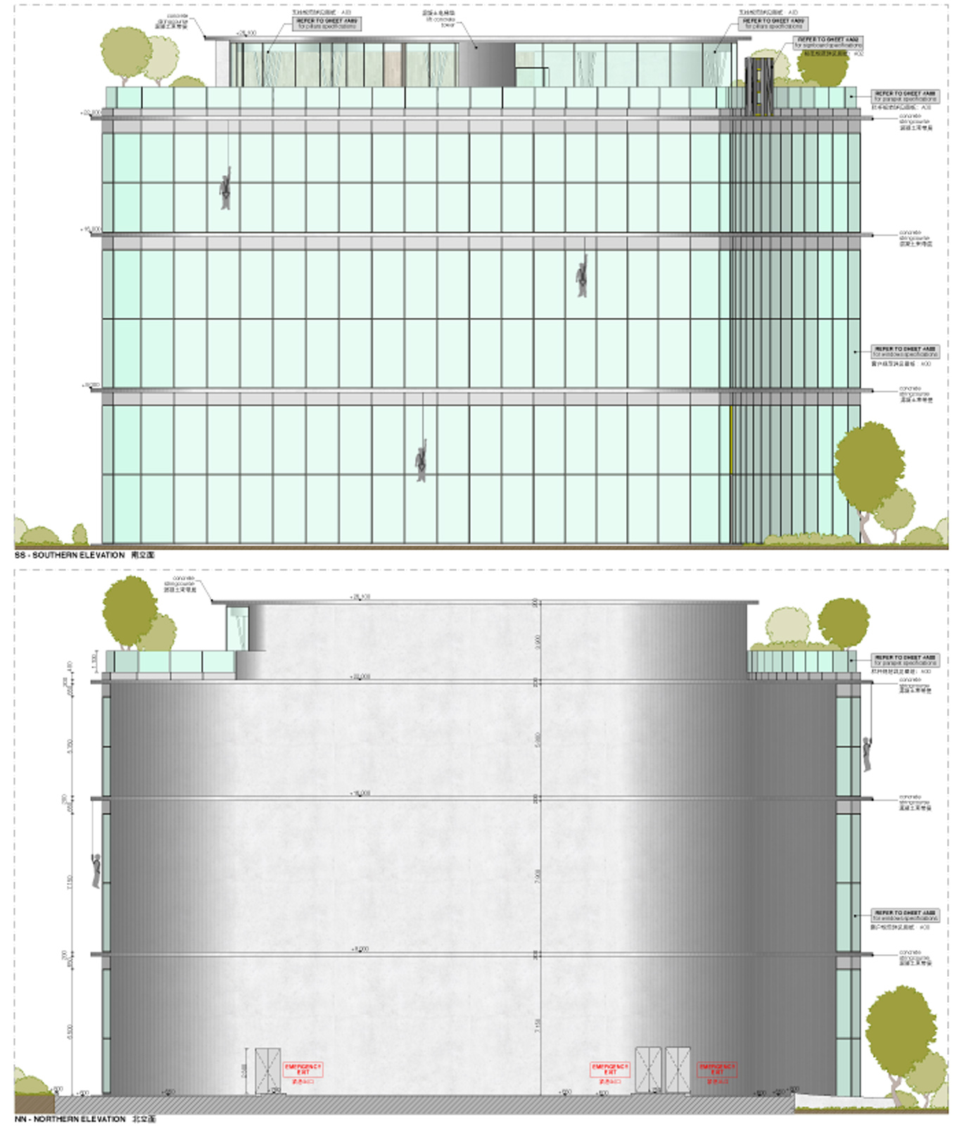 Naked facade drawing duccio grassi architects}