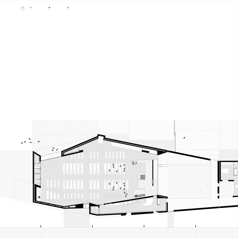 Planimetria chiesa PBeB Paolo Belloni Architetti}