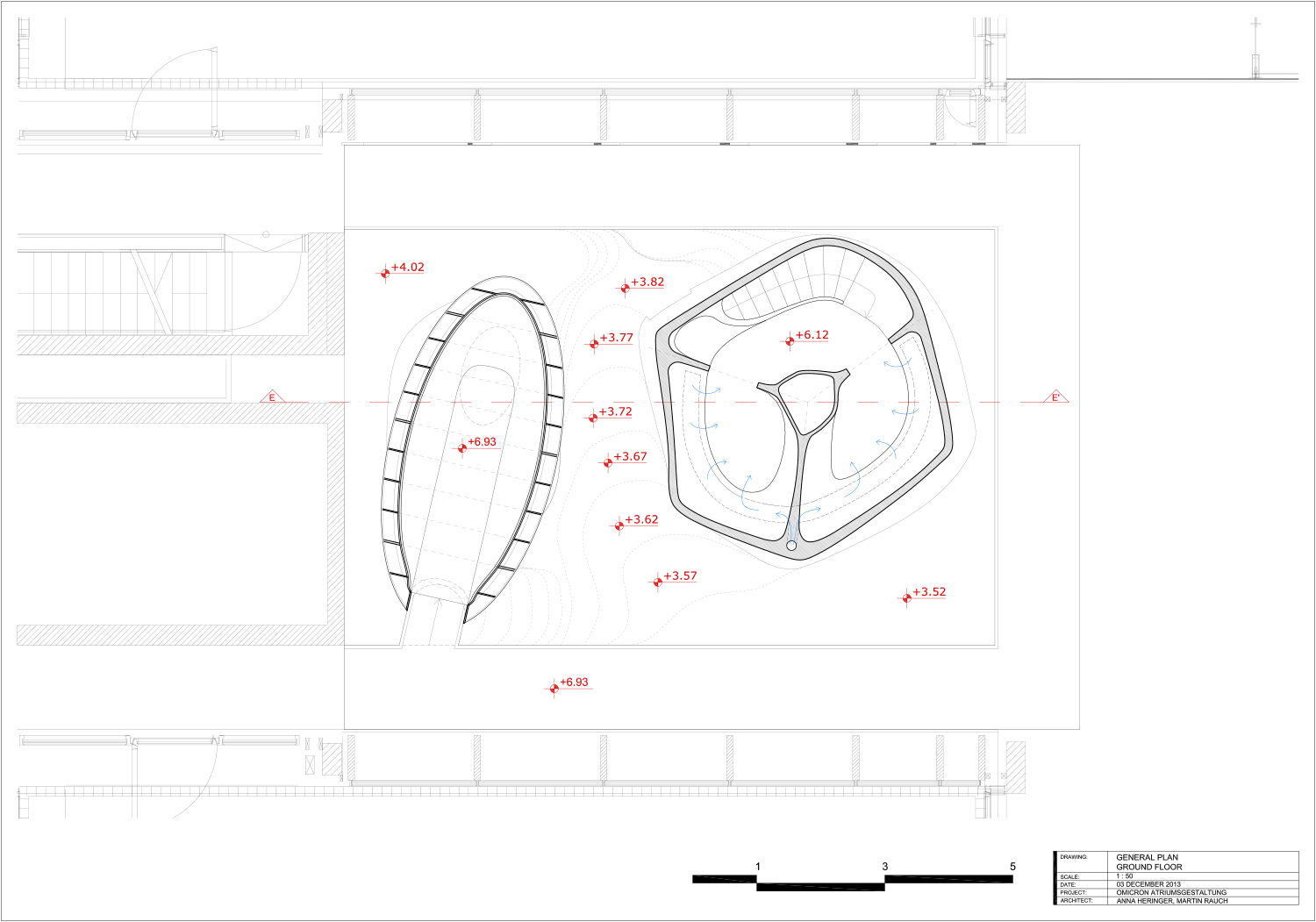 Second floor - technical drawing }