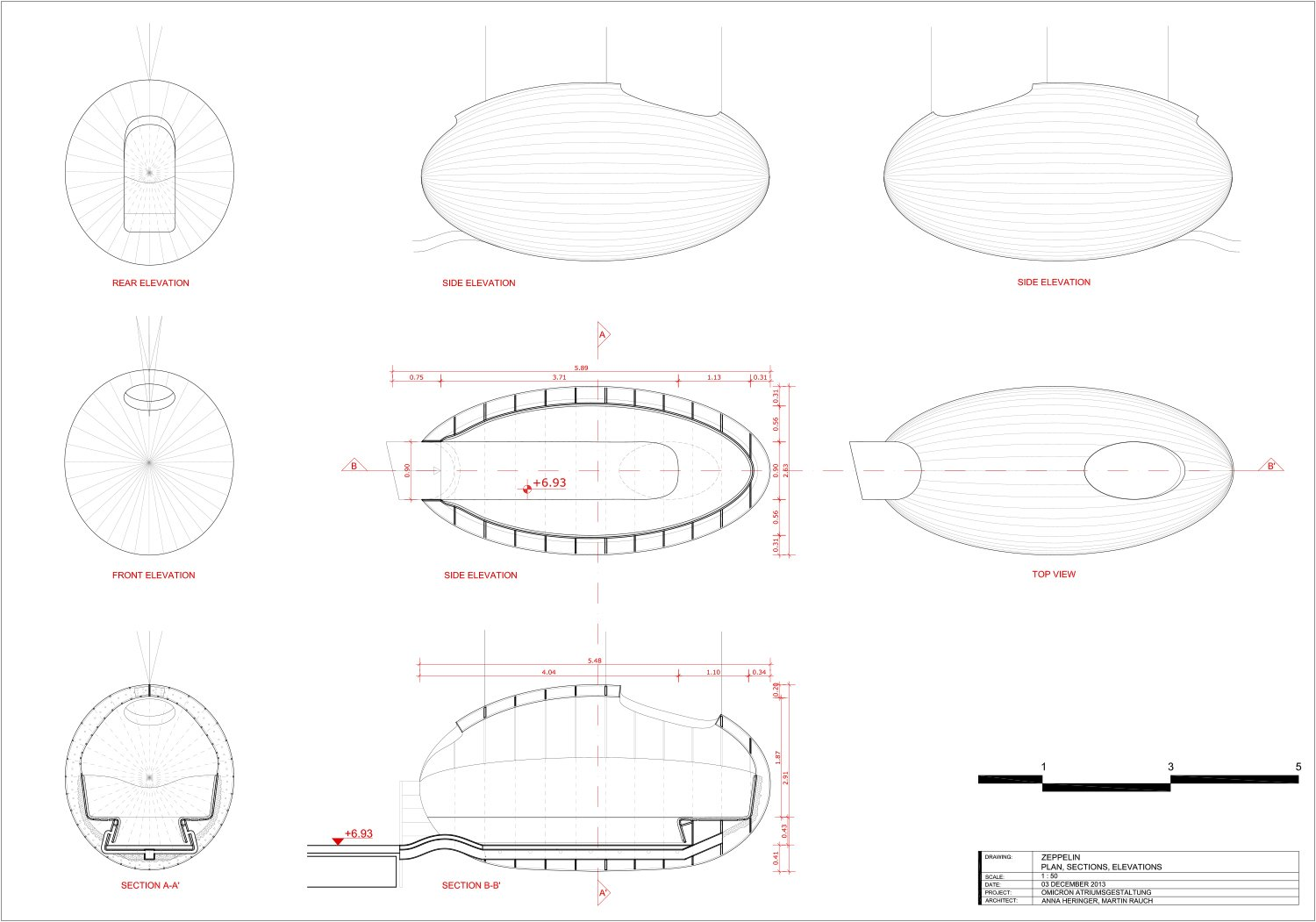 The 'Zeppelin' -  technical drawing }