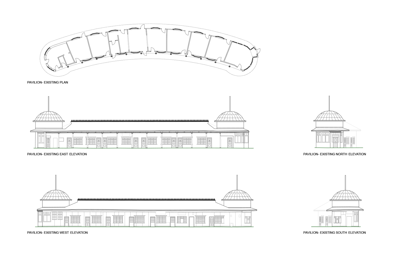 Existing Pavilion Drawings }